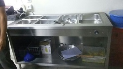 BAIN MARIE WITH GUN PAN WITH CABINET BODY