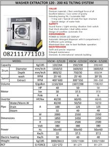 PAROS WASHER EXTRACTOR 120-200KG