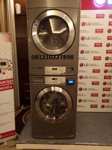 MESIN LAUNDRY STACK KARTU CARD LG