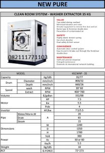 PAROS NEW PURE CLEAN ROOM WASHER EXTRACTOR 35KG