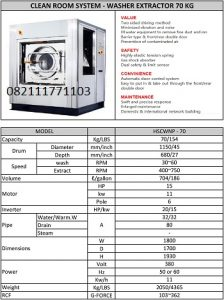 PAROS NEW PURE CLEANROOM SYSTEM WASHER EXTRACTOR70KG
