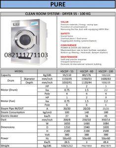 PAROS PURE CLEAN ROOM SYSTEM DRYER 55-100KG