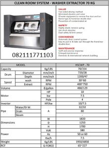 PAROS PURE CLEAN ROOM SYSTEM WASHER EXTRACTOR 70KG