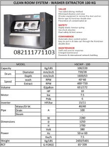 PAROS PURE CLEAN ROOM SYSTEM WASHER EXTRACTOR, 100KG
