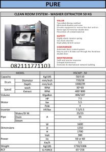 PAROS CLEAN ROOM SYSTEM WASHER EXTRACTOR